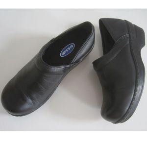 DR SCHOLLS Womens Shoes Sz 6 Clogs Heels Leather